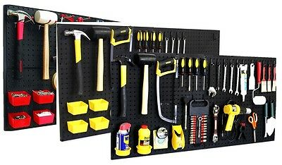 Pro 75 Peg Hook Kit & Bins - Shelf Hanger Garage Storage Pegboard Hanging Set