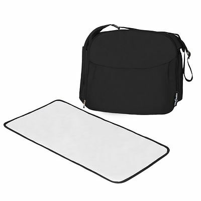 Ickle Bubba Baby Black Changing Bag and Mat - Perfect for On-The-Go Travelling