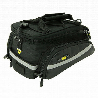 Topeak Rx Trunk Bag Ex Rear Bike Bicycle Rack For Commuter Touring Pack Black