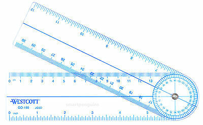 C-Thru Goniometer Protractor GO-180 CThru measures angles