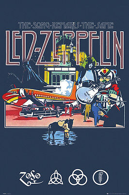 LED ZEPPELIN - SONG REMAINS THE SAME - MUSIC POSTER - 24 x 36 BAND 34066