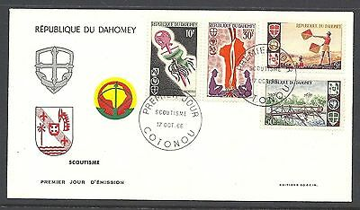 Dahomey 1966 Scout FDC