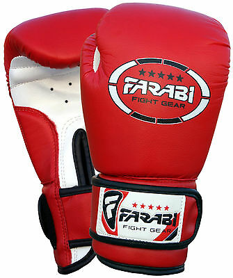 Farabi Kids Boxing Gloves Junior Mitts mma Synthetic Leather Sparring Gloves 4oz
