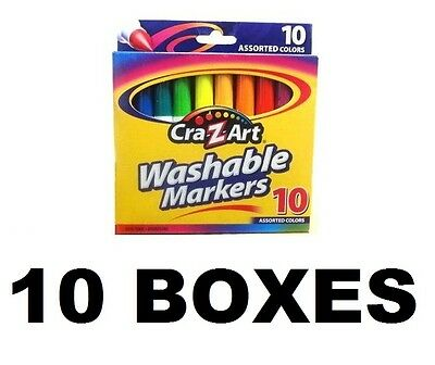 Cra-Z-art Washable Markers 10 Boxes of 10 MARKERS IN EACH BOX = 100