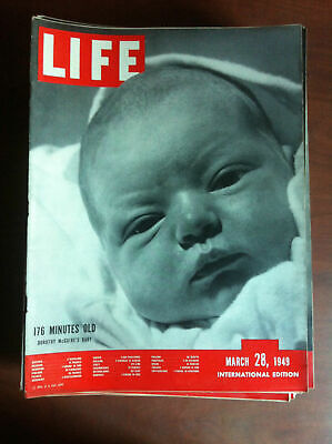Life international Vol. 6 n° 7 March 28, 1949 Cover Mary Ackett Swope - E18412