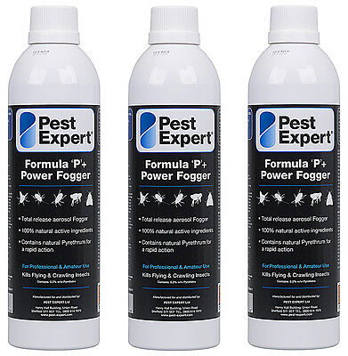 Flea Fogger Bombs XL (x3) from Pest Expert (530ml) for a larger coverage area.
