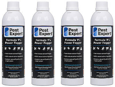 Flea Fogger Bombs XL (x4) from Pest Expert (530ml) for a larger coverage area.