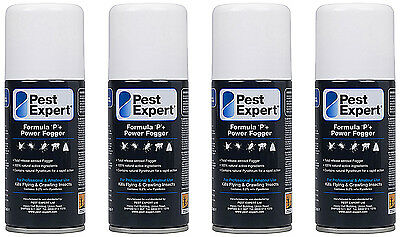 Pest Expert® Carpet Moth Killer Insect Formula 'P+' Power Fogger (150ml) X4