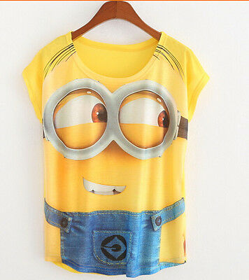 Women 3D Despicable Me Minions Men In Yellow T-Shirt Funny Cool Tee Top Gift