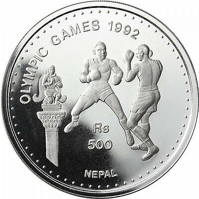 Nepal 500 Rupees 1992-Sommerolympiade 1992 in Barcelona-Boxen-Silber, PP