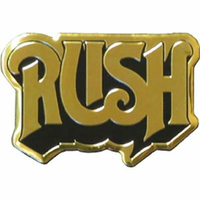 RUSH LOGO - METAL STICKER 3 x 2 - BRAND NEW - CAR DECAL 7622