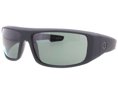 NEW SPY OPTICS Logan Soft Matte Black Happy Grey Green 670939973863 Sunglasses