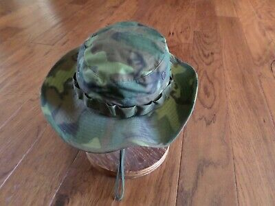 f2605868f34 U.s Military Issue Vietnam Jungle Hat Camouflage Boonie Hat Date 1968 Size  6 7 8