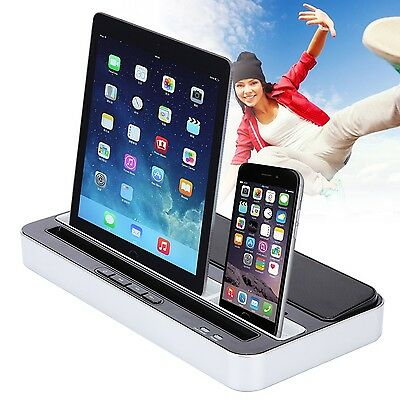 Speaker Charger Docking Dock Dual Station for iPhone 6 Plus 5s iPad iPod Samsung