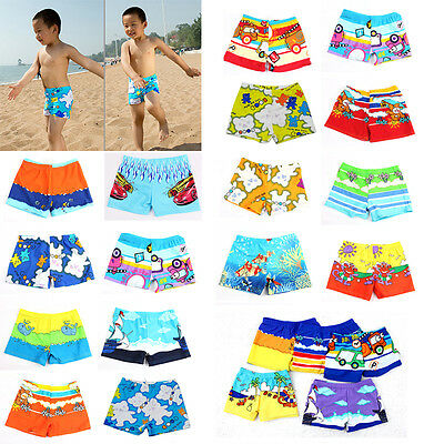 Baby Swimwear Cartoon Pattern Surfing Swim Trunks for Kids Colors Random LA US A