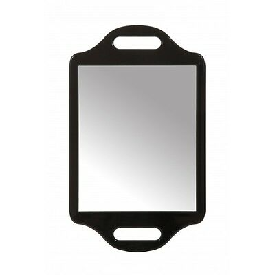 Matty Bond Street Hairdressing Beauty Salon Mirror with Twin Handle, Black