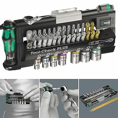 "WERA 1/4"" Hex Mini Ratchet Screwdriver & Socket Tool Check Plus Bit Set 056490"