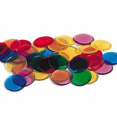 New Learning Resources 250 Transparent Counters Math Manipulatives Count Sort