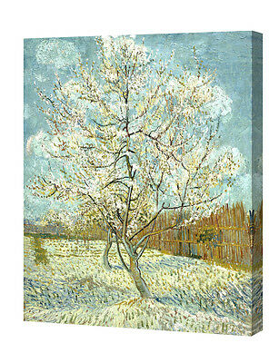 DecorArts The Pink Peach Tree by Van Gogh Giclee Print Stretched CanvasWrapped