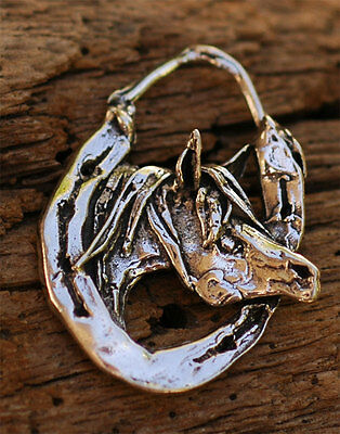 Horse and Horseshoe Pendant in Sterling Silver