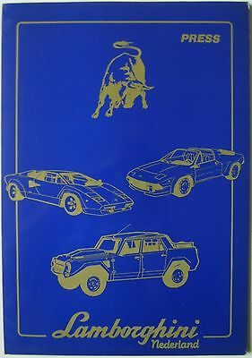 Lamborghini 1989 Amsterdam RAI Show Press Kit Countach Celebration LM 002