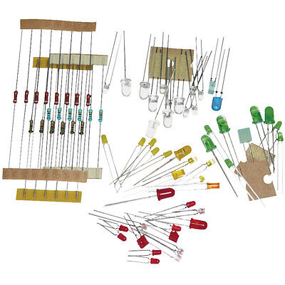LED Sets- Creative/Mixed/IR Approx 50 LED + 20 Resistor Light Emitting Diode Kit