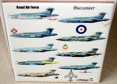 RAF BUCCANEER Royal Air Force variants 1968  to 1977 CERAMIC  TILE