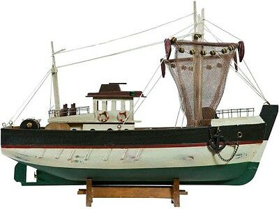 Fishing Boat Model Wooden For Furnishing And From Collection
