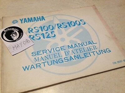 Yamaha RS100 RS100S RS125 RS 100 125 1Y8 worshop  service manuel atelier 1977