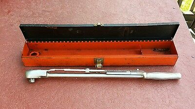 "Vintage J.H. Williams Torque Wrench - S-57 Measurrench - 1/2"" drive in case"