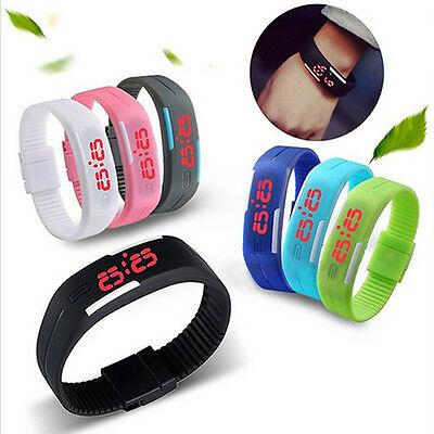 Woman Lady Girl Fashion Silicone LED Sport Bracelet Touch Digital Wrist Watch