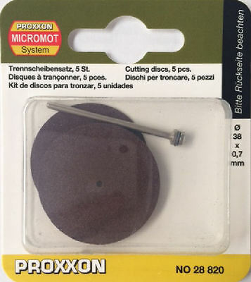 Proxxon 5 x Corundum cutting discs 38mm 28820 / Direct from RDGTools