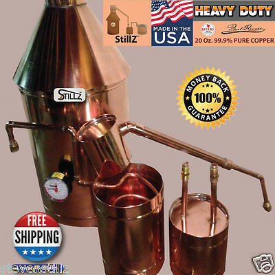 Copper Moonshine Still StillZ 20 Gal. Heavy 22 Ga. Copper Still - Whiskey Still
