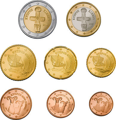 CHIPRE 2015 serie euros - EURO COINS OF  Cyprus 2015 issue - Serie completa