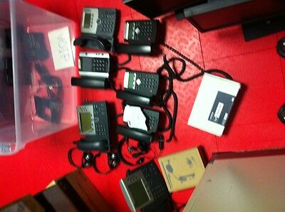 Lot of 11 IP Phones and 4 Headsets