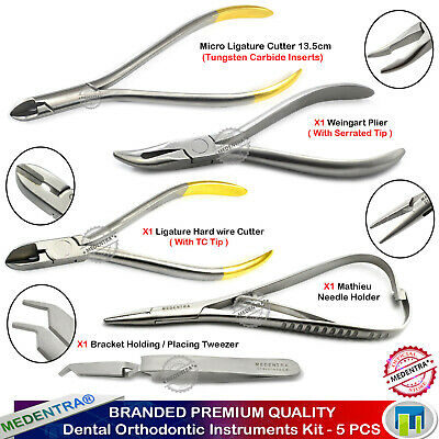 Ligature Orthodontic Instruments Kit Ortho Tools Dental Wire Cutters Distal End