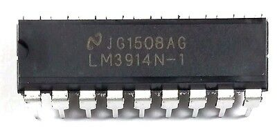 10 PCS National Semiconductor LM3914N-1 LM3914 - Display Driver DIP-18 New IC