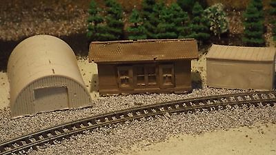 N-Scale 3 Unfinished Mix Buildings 1:160 Model Train Detail Accessories