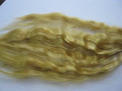 Reborn Doll mohair GOLD BLONDE Wavy. approx 7gm  (1/4oz)