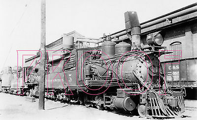 Colorado Southern (C&S) Engine 5 at Denver in the 1930s - 8x10 Photo