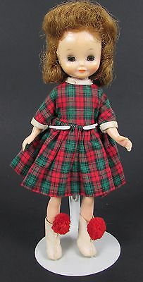 "Vintage 1950's Betsy McCall "" SCHOOL DAYS "" Scotch Plaid Dress w/ Boots 8"" Doll"