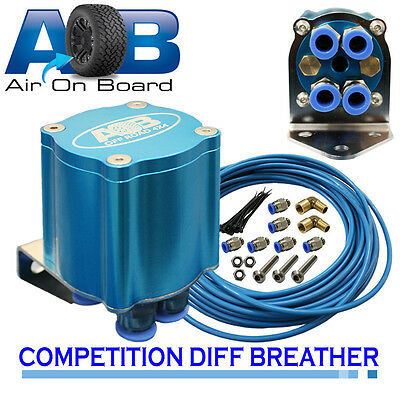 Breather Kit 201 COMPETITION diff breather kit 6 Port Cartridge Filter BLUE