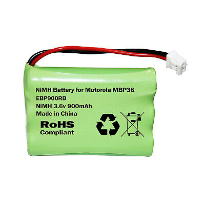 MOTOROLA MBP36 or MBP36S BABY MONITOR RECHARGEABLE BATTERY AAA 3.6V 900mAh NIMH