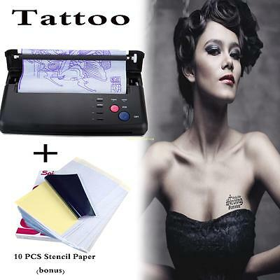 Tattoo Transfer Copier Printer Machine Thermal Stencil Maker + 10 free Papers