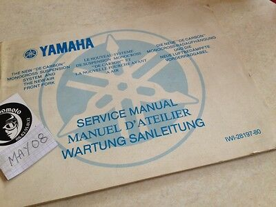 Yamaha suspension de Carbon cross YZ 125 250 400 worshop  service manuel atelier