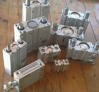 SMC MGPM50-25 Pneumatic Compact Guide Cylinder 50mm Bore 25mm Stroke