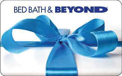 $50 Bed Bath & Beyond Physical Gift Card - Standard 1st Class Mail Delivery