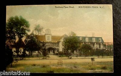 1910 Hand Colored Postcard Southern Pines Hotel N C