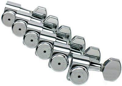 Hipshot Enclosed Grip Lock Tuners 6IL CHROME Staggered Vintage 8.5mm Posts