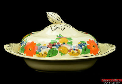 Adams Royal Ivory England Maytime Titianware China Covered Vegetable Dish Bowl